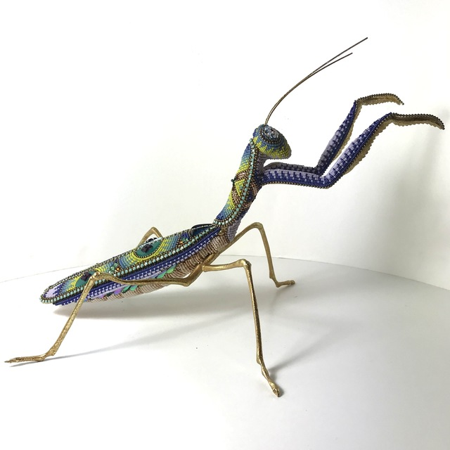 Jan Huling, 'Baby Das Bug', 2021, Sculpture, Beads, vintage crystals, metal on found object, Parlor Gallery