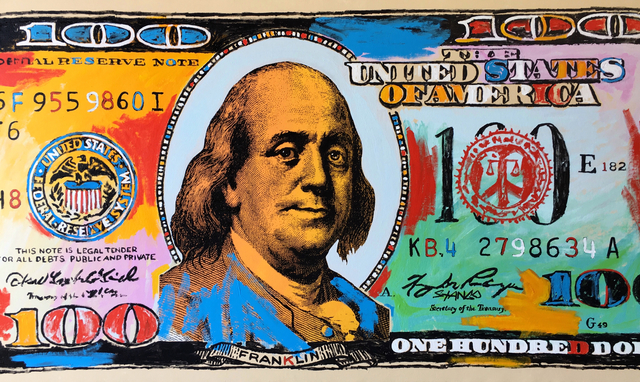 John Stango, 'Hundred Dollar Bill (2018)', 2018, JCO's Art Haus