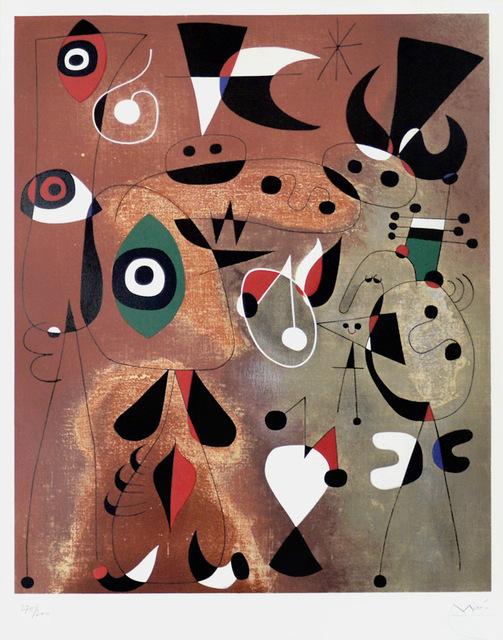 Joan Miró, ' Femmes, Oiseaux, Etoile (Woman, Birds, Star)', 1960, Masterworks Fine Art