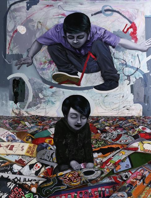 , 'Sea of skateboards,' 2017, Galeria Movimento