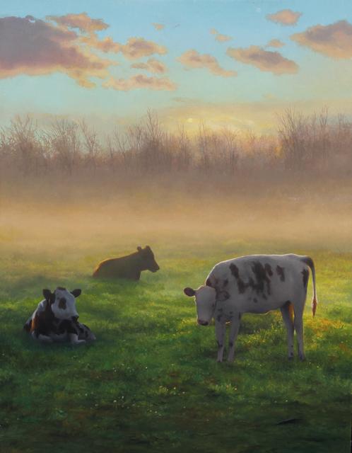 , 'Cows at Sunrise,' 2018, William Baczek Fine Arts