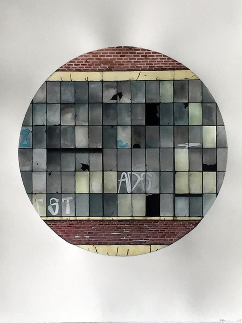 , 'Factory Window Mandala,' 2017, Pentimenti Gallery