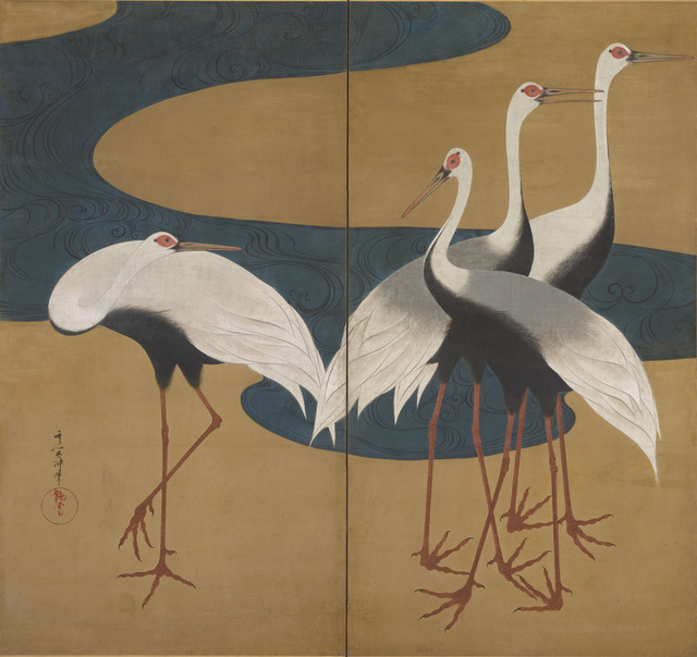 , 'Cranes. Japan, Edo Period (1615–1868),' ca. 1828–early 1830s, The Metropolitan Museum of Art