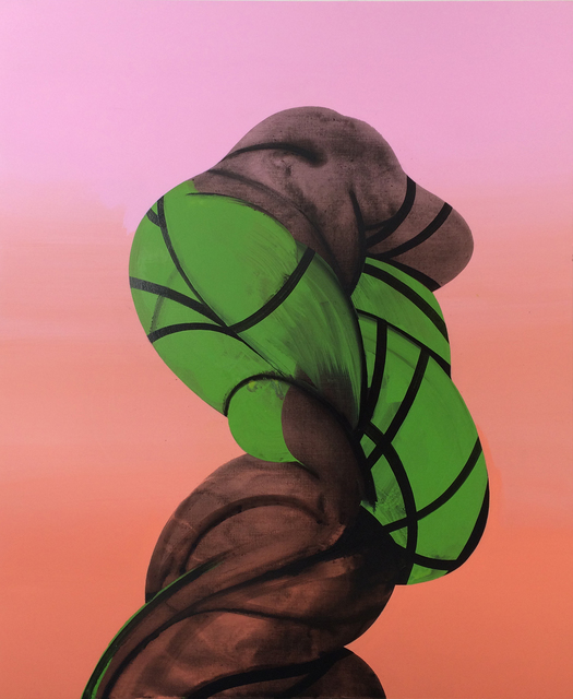 , 'Twisted Figure (Bound and Green),' 2016, 532 Gallery Thomas Jaeckel