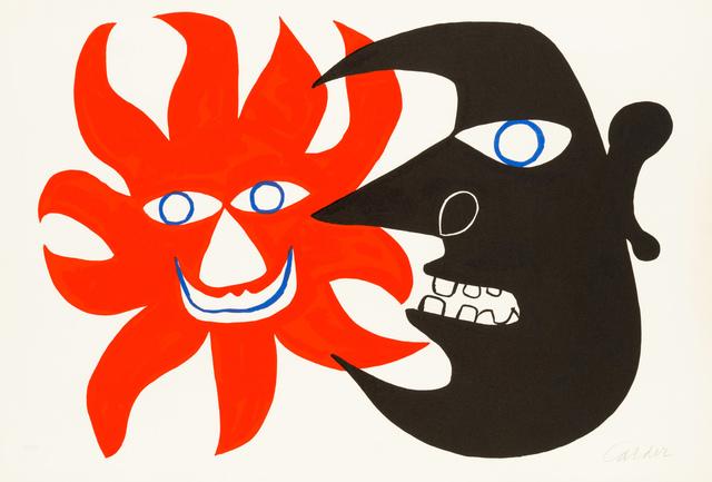Alexander Calder, 'Red Sun, Black Moon', 1970, Christopher-Clark Fine Art