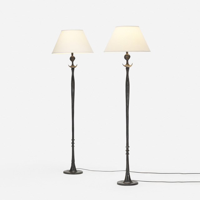 After Alberto Giacometti, 'Tete de Femme floor lamps, pair', 1933-34, Wright