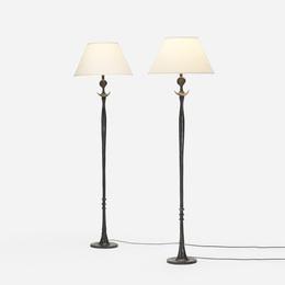 Tete de Femme floor lamps, pair