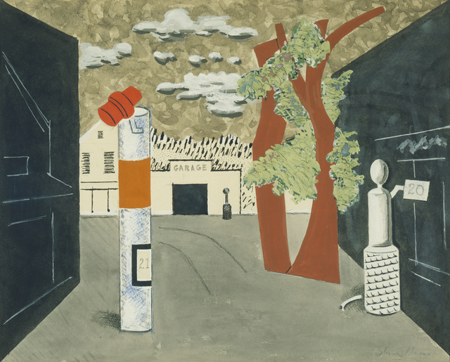 , 'Town Square,' 1929, Whitney Museum of American Art