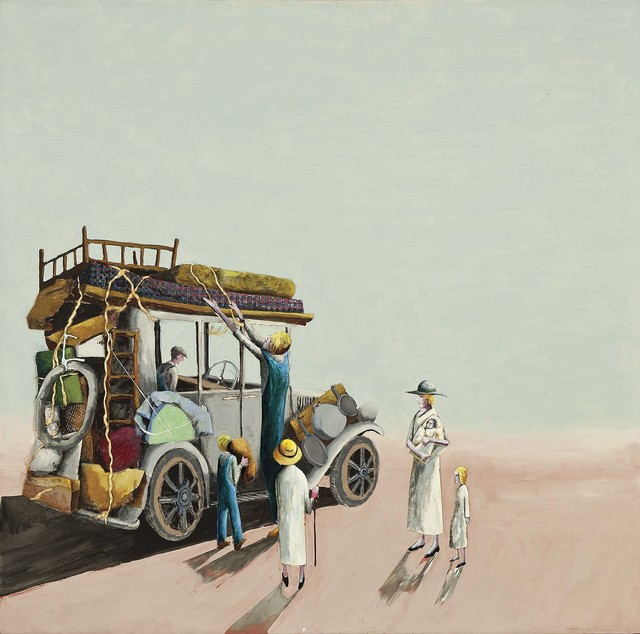 Benny Andrews, 'Migrant Packers (Migrant Series)', 2004, Michael Rosenfeld Gallery