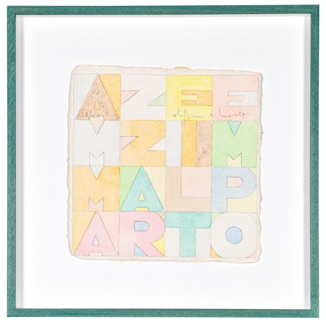 Alighiero Boetti, 'Ammazzare il tempo', 1979, Glenda Cinquegrana Art Consulting