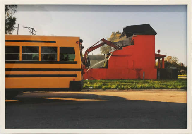 , 'Color(ed) Theory Series: Flamin' Red Hots (Demolition Bus),' 2018, Rhona Hoffman Gallery