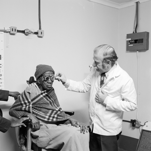 , 'Eyesight testing at the Vosloosrus Eye Clinic of the Boksburg Lions Club,' 1980, Goodman Gallery