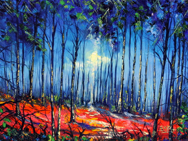 , 'Foresta Blu E Rossa,' 2016, Bitfactory Gallery
