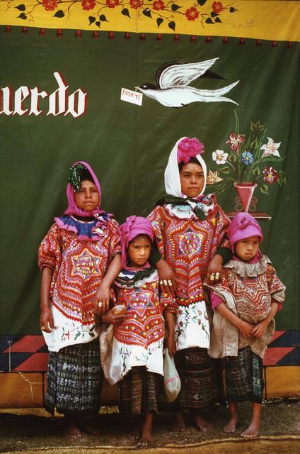 , 'Sisters dressed for annual fair, Barillas,' ca. 1970, Deborah Bell Photographs