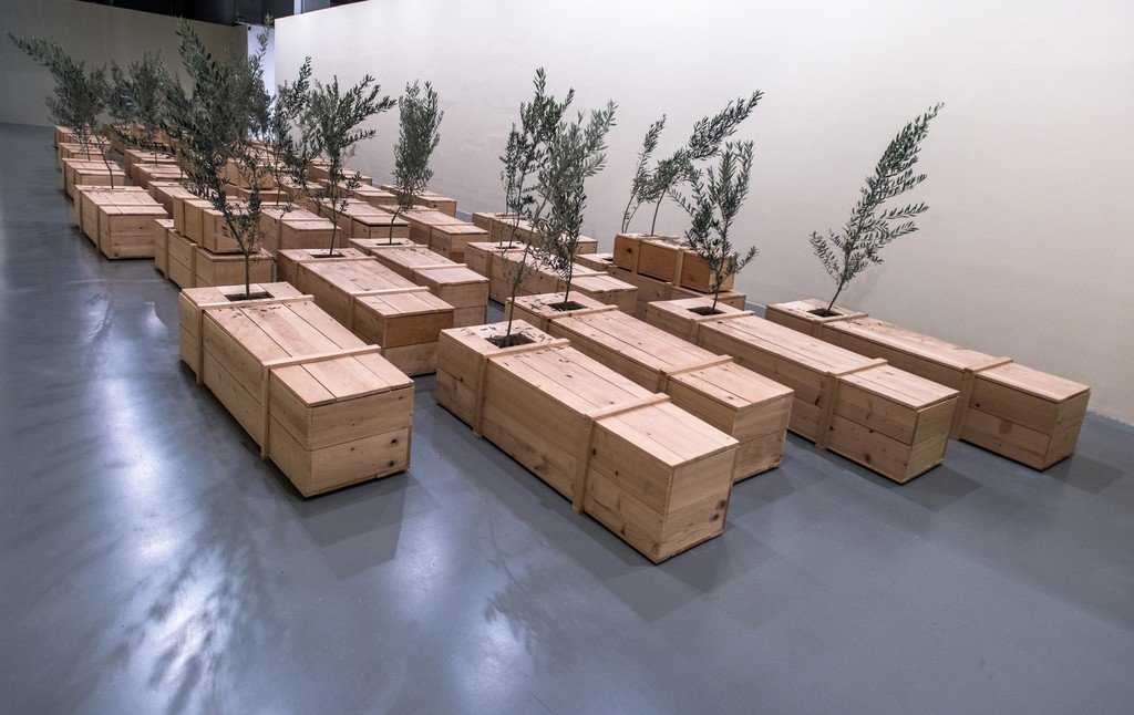 "Yoko Ono, Ex It, 1997-2007. Installation view, ""TILL IT'S GONE: An Exhibition on Nature and Sustainability"" at Istanbul Modern, 2016."