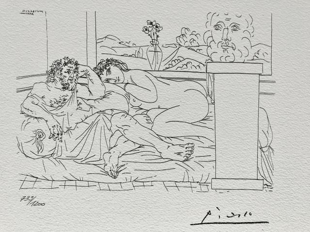 Pablo Picasso, 'Le repos du sculpteur IV (Suite Vollard Planche LXV)', 1973, ByNewArt