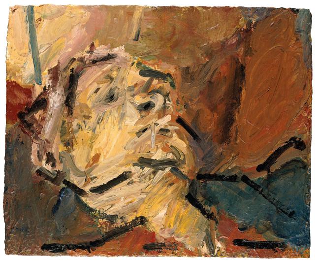 Frank Auerbach, 'Reclining Head of Julia II', 1997, Tate Britain