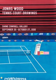 Tennis Court Drawings, exhibition poster