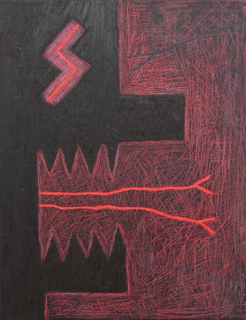 , 'Slayer Eye (Black and Red Scratch),' 2018, Charlie Smith London