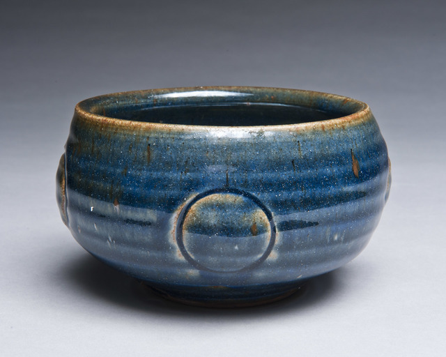 , 'Tenmoku Bowl with Blue, Circles,' 2016, Lacoste Gallery