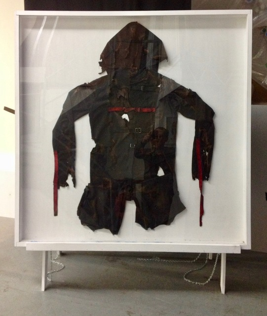 , 'No Contract (burn suit),' 2011, Robert Kananaj Gallery