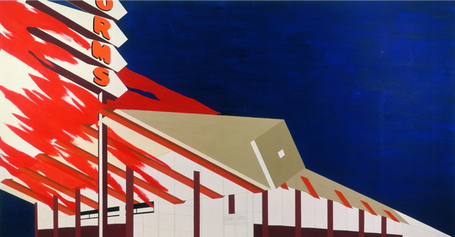 , 'Norm's, La Cienega, on Fire,' 1964, The Broad