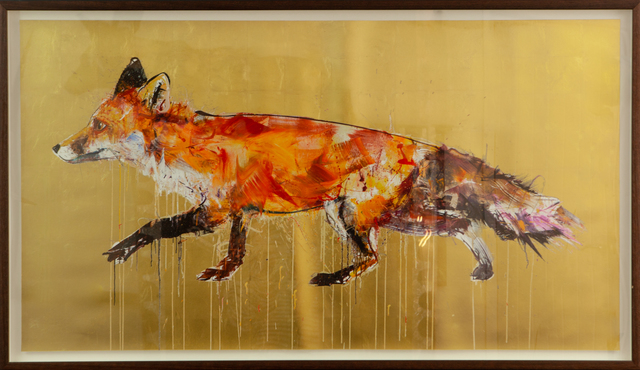 Dave White, 'Fox II (Gold Leaf)', 2017, The Drang Gallery