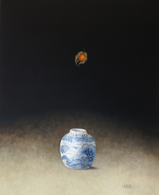 , 'Blue and White Jar with Falling Physalis,' 2019, Quantum Contemporary Art