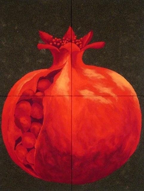 Massimo Catalani, 'Pomegranate (Melograno)', 2015, Painting, Carrara Marbles and pigments on table, Galleria Ca' d'Oro