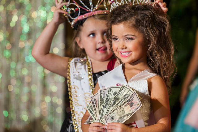 "Lauren Greenfield, 'Kailia Deliz, 5, receiving her cash award for winning the Ventura County ""Summer Fun"" Beauty Pageant, Oxnard California, ED 1/5', 2011, Telluride Gallery of Fine Art"