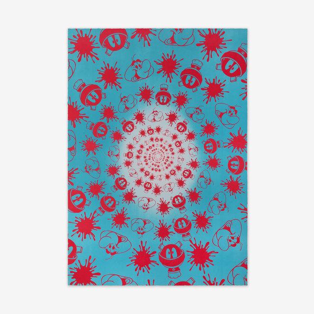 John M. Armleder, 'No Stain, No Gain (Blue & Pink Edition) ', 2018, Print Them All