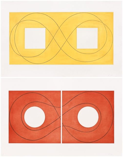 , 'Double Square Frame I & II,' 2015, Pace Prints