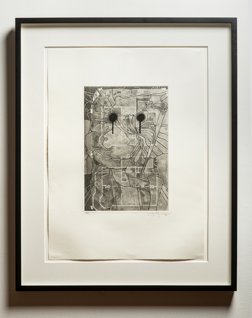 Jasper Johns, 'Untitled', 1998, Print, One-color etching on  Hahnemühle copperplate paper, Wexler Gallery