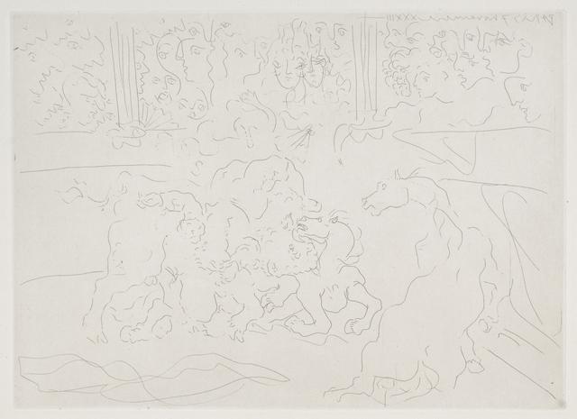 , 'Taureau et Chevaux dans L'Arene,' 1933, Odon Wagner Contemporary