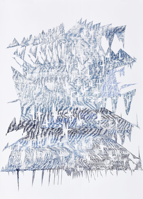 , 'Erosion Drawings: Blue Print for an Undesired World 1,' 2015, WHATIFTHEWORLD