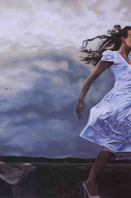 , 'Storm chasing dog chasing girl chasing storm ,' , Great Banyan Art