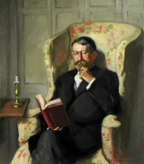 , 'Father in Wingchair,' Early 20th c., Bakker Gallery