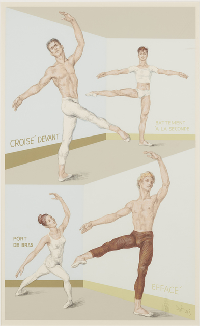 , 'Four Ballet Positions,' 1946-47/1983, Childs Gallery
