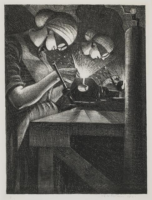 , 'Acetylene Workers,' 1917, Osborne Samuel