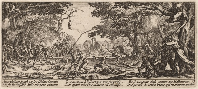 Gerrit van Schagen after Jacques Callot, 'The Peasants Avenge Themselves', National Gallery of Art, Washington, D.C.