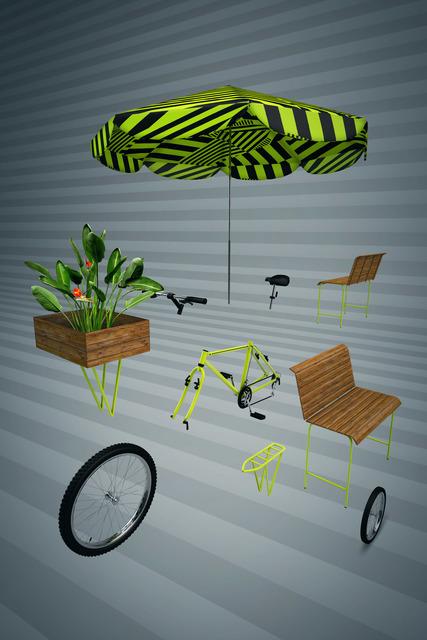 , 'Bike dissecada 3D,' 2018, Choque Cultural