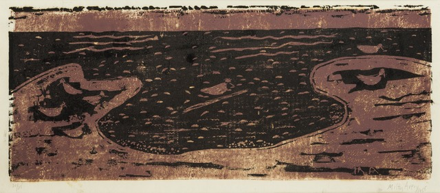 , 'Birds & Sea (brown & black),' 1955, Childs Gallery