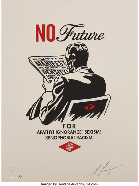 Shepard Fairey, 'Obey with Caution', 2016, Heritage Auctions