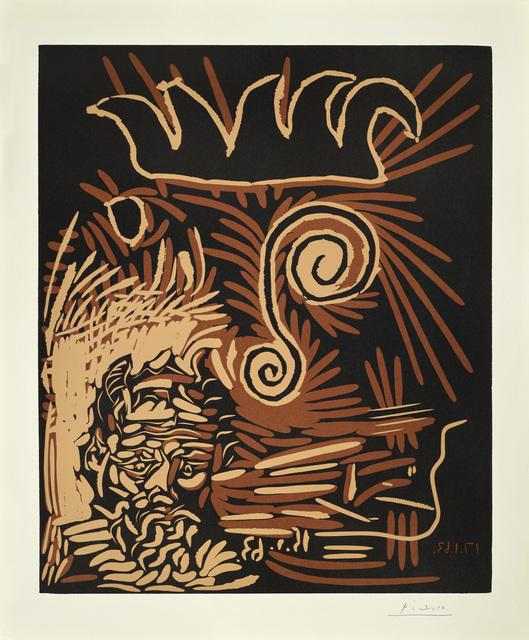 Pablo Picasso, 'Le Vieux Bouffon', 1963, Print, Linocut on Arches paper, Galerie Jean-François Cazeau