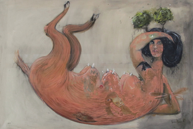 Salvador Luna, 'Hábitat en la cabeza ', 2019, Galería Mónica Saucedo
