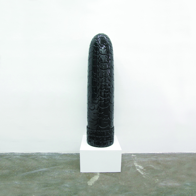 , 'Dirty Words Black,' 2011, KOLLY GALLERY