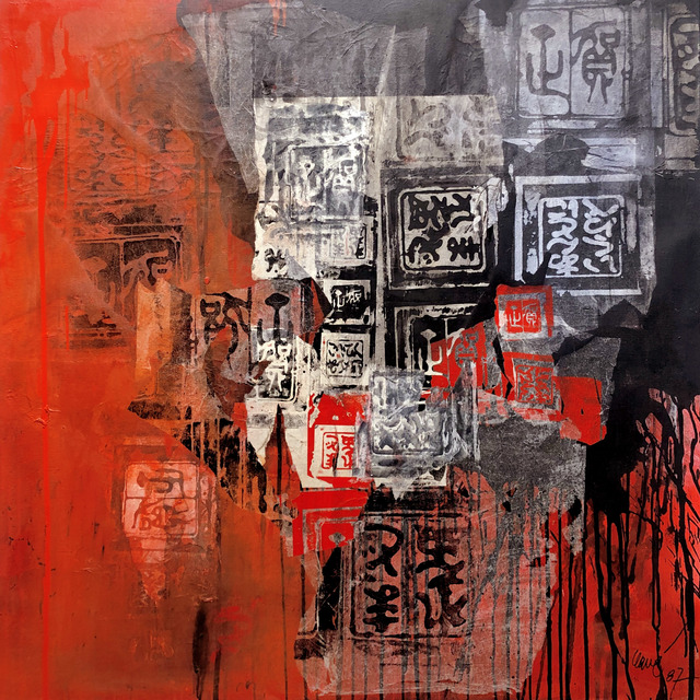 , 'Ankos en rouge et noir,' ca. 1986, Galeria Jordi Pascual