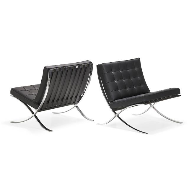 Ludwig Mies van der Rohe, 'Pair of Barcelona chairs, USA', 2000s, Rago/Wright