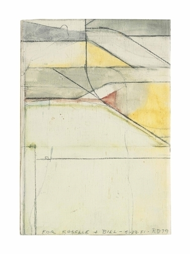 Richard Diebenkorn, 'Cigar Box Lid #9', Christie's