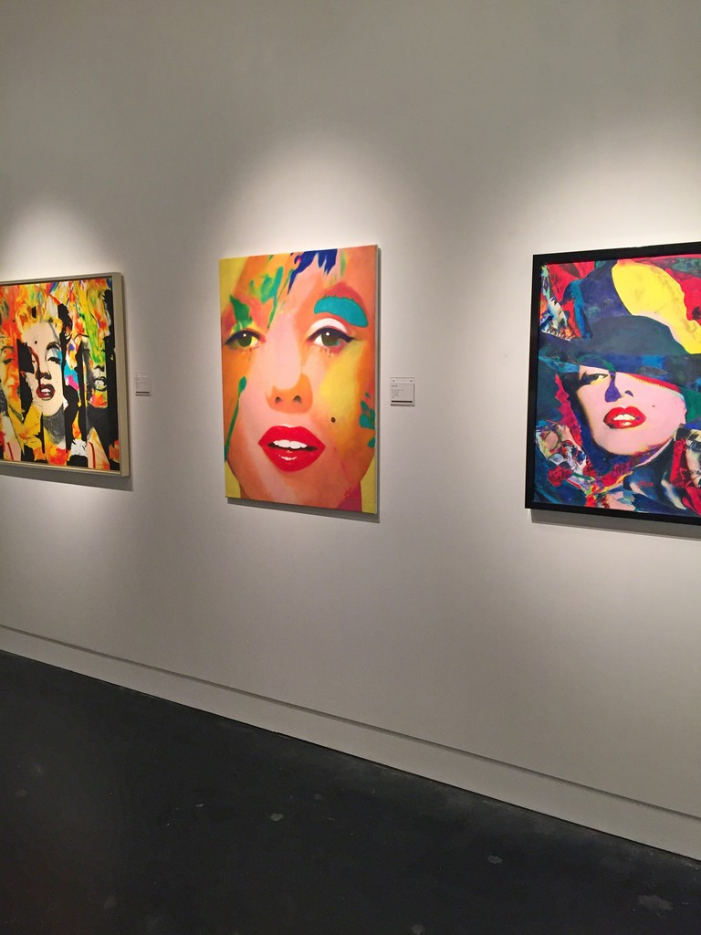 Three paintings featuring Marilyn Monroe from James Gill's Exhibition: When the World Went POP!